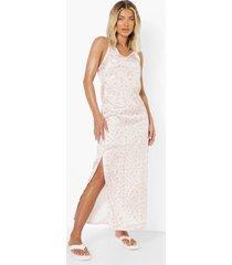 bloemenprint maxi jurk, white