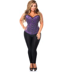 daisy corsets top drawer elegant purple embroidered steel bone corset
