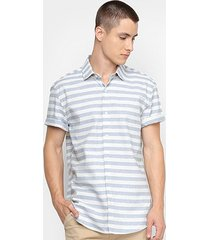 camisa calvin klein listrada masculina
