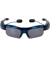 audífonos inalámbricos, sport riding eyes glasses bluetooth manos libres  4.0 stereo headset conducir llame a la música manos libres gafas de sol inteligentes para android ios smartphones y todo el dispositivo (azul del ejército)