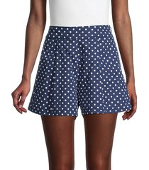 weworewhat women's etoile polka dot shorts - estate blue - size s
