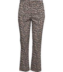 clara 604 crop pantalon met rechte pijpen multi/patroon fiveunits