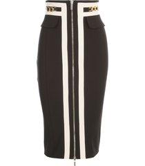 elisabetta franchi striped skirt w/zip
