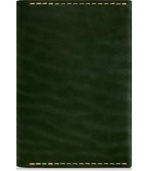 ezra arthur leather passport wallet in green at nordstrom