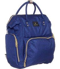 mochila maternal azul amayra cambiador