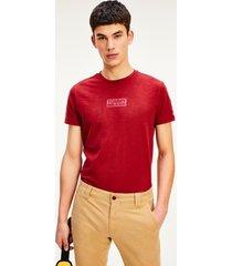polera algodón orgánico slim rojo tommy jeans