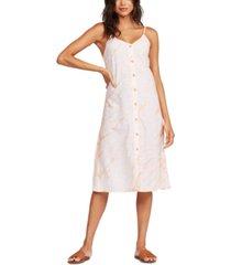 roxy juniors' wild ties cotton printed midi dress