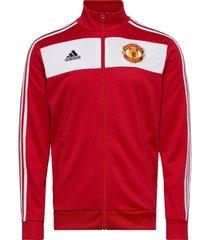 mufc 3s trk top sweat-shirt trui rood adidas performance