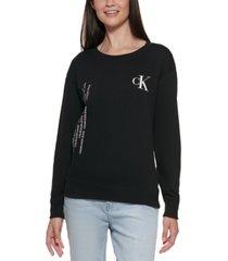 calvin klein graphic sweatshirt