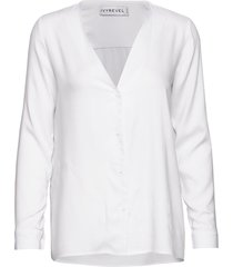 button up shirt blus långärmad vit ivyrevel