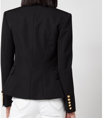 balmain women's 6 button grain de poudre jacket - noir - fr 40/uk 12