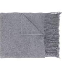 isabel marant cachecol de cashmere com acabamento desfiado - cinza