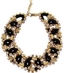 dsquared2 crystalized cable black gold necklace