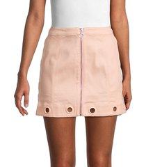 for love & lemons women's stretch-cotton mini skirt - cotton candy - size xs