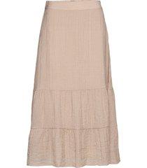 enreal skirt 6717 knälång kjol rosa envii