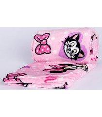 manta estampada solteiro lepper rosa