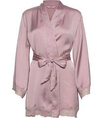 kimono satin meili morgonrock rosa hunkemöller