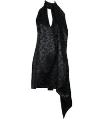 neck scarf mini dress