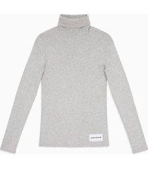 sweater iconic rib turtle gris calvin klein