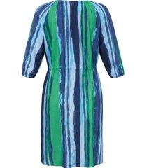 jurk 3/4-mouwen en ronde hals van samoon blauw