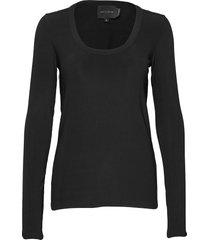indy t-shirt l/s t-shirts & tops long-sleeved zwart birgitte herskind