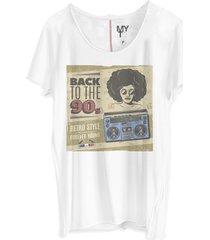 camiseta my t-shirt corte a fio back to the 90s branco