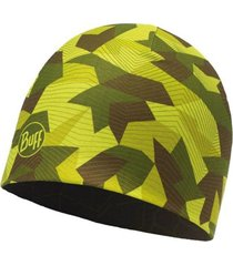 gorro microfiber reversible block camo green buff