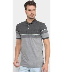 camisa polo gajang bicolor listra masculina