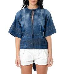 dsquared2 denim cottonb blouse