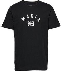 brand t-shirt t-shirts short-sleeved svart makia