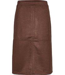 sc-leane knälång kjol brun soyaconcept