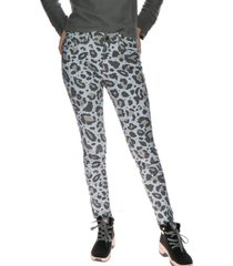 pantalon print/fashion symbol jegging gris cat