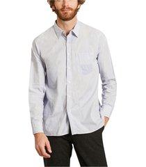 micro striped cotton shirt