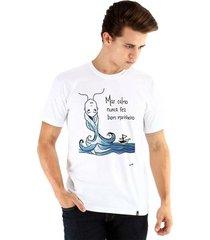 camiseta ouroboros manga curta mar