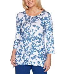 alfred dunner petite sapphire skies knit top