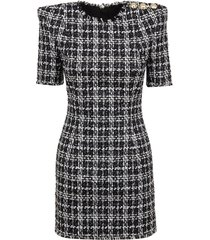 balmain check mini dress