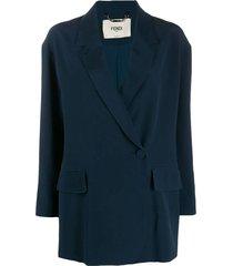blue silk blazer