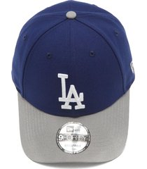boné new era snapback los angeles dodgers mlb azul/cinza