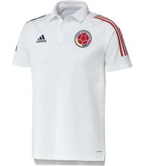 camiseta polo para hombre oficial selección colombia blanca