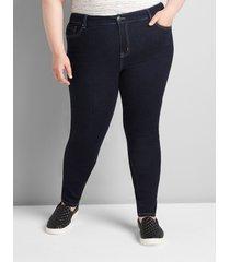 lane bryant women's straight fit high-rise skinny jean - dark wash 20 dark denim