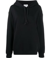 acne studios oversized organic-cotton hoodie - black