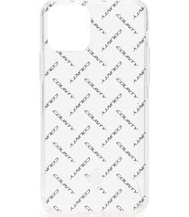 marcelo burlon county of milan logo print 11 pro iphone case - white