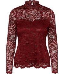 janne ls highneck lace top