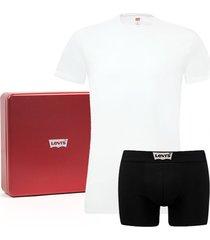 levi's 200sf giftbox t-shirt en boxer caviar-m