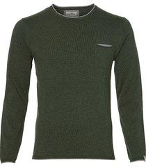 sale - hensen pullover - slim fit - groen