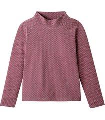 sweatshirt van structuur-jacquard, grijs-motief 40/42