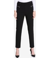 calvin klein zip-pocket straight-leg pants