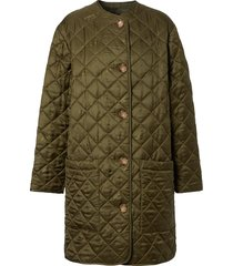 burberry diamond-quilted coat - green