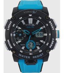 reloj azul-negro virox