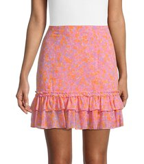 likely women's nori floral mini skirt - pink - size 10